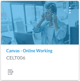 Screenshot of Canvas Online Working Icon